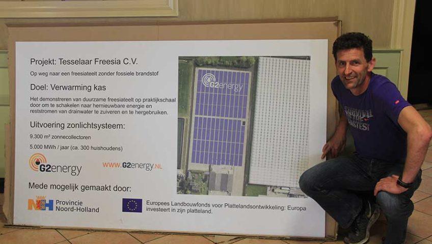 Tesselaar Freesia op weg naar duurzame kasverwarming zonder fossiele brandstof